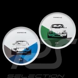 Set von 2 teller Porsche 911 Carrera RS 2.7 N° 2/2 blau grün Porsche Design WAP0509580J