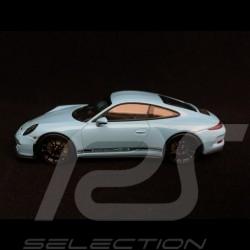 Porsche 911 R type 991 2016 Gulf blau schwarze Seitenband 1/43 Minichamps 410066225