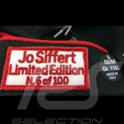 Helm Jo Siffert 1968 replica n° 6 / 100 rot weißen Streifen Schweizer Flagge mit Visier