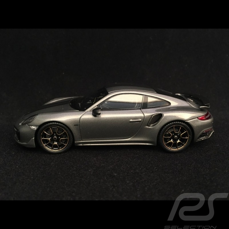 Porsche 911 Turbo S Exclusive Series 991 2017 gris quartz 1/43 Spark WAP0209050H agate grey Achatgrau
