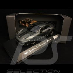 Porsche 911 Turbo S Exclusive Series 991 2017 Achatgrau 1/43 Spark WAP0209050H
