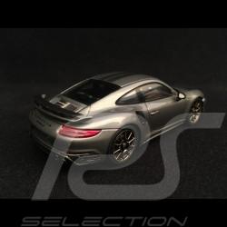Porsche 911 Turbo S Exclusive Series 991 2017 agate grey 1/43 Spark WAP0209050H