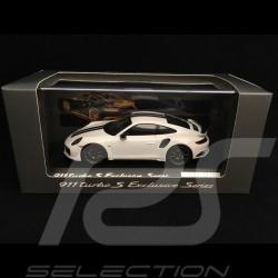 Porsche 911 Turbo S Exclusive Series 991 2017 weiß Carrara 1/43 Spark WAP0209060H