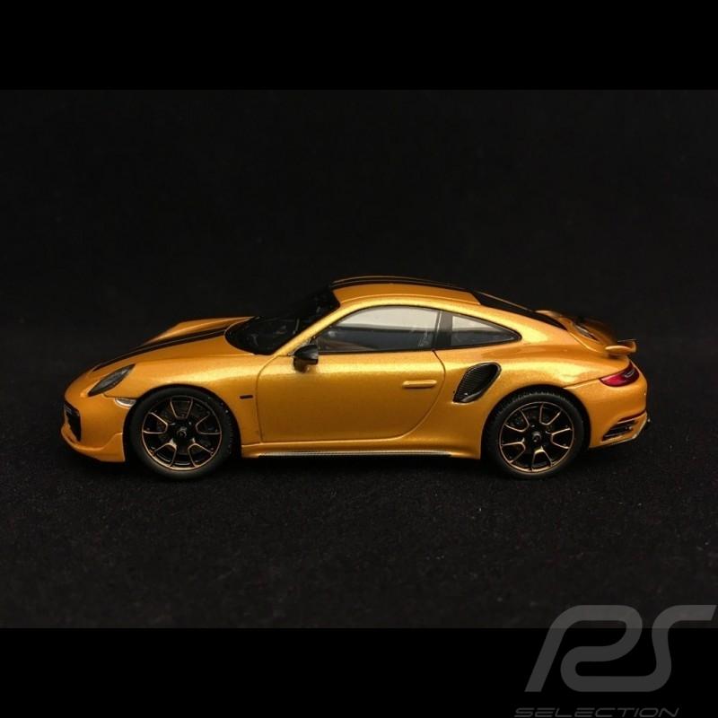 Porsche 911 Turbo S Exclusive Series 991 2017 yellow gold 1/43 Spark WAP0209070H