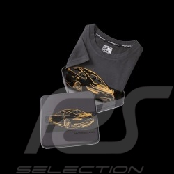T-shirt Porsche 911 Turbo S Exclusive Series gris Porsche Design WAP403 - mixte