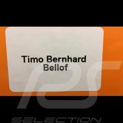 Casque pilote Timo Bernhard Porsche 919 Hybrid WEC 2015 1/2 Schuberth 9085000232