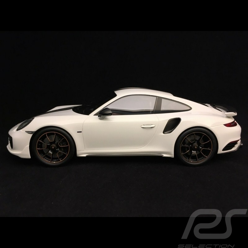 Porsche 911 Turbo S Exclusive Series 991 2017  Carrara white 1/18 Spark WAP0219030H