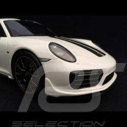 Porsche 911 Turbo S Exclusive Series 991 2017  Blanc Carrara 1/18 Spark WAP0219030H white weiß
