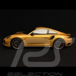 Porsche 911 Turbo S Exclusive Series 991 2017 yellow gold 1/18 Spark WAP0219040h