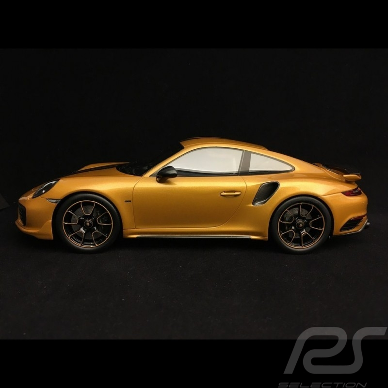 Porsche 911 Turbo S Exclusive Series 991 2017 yellow gold 1/18 Spark WAP0219040h