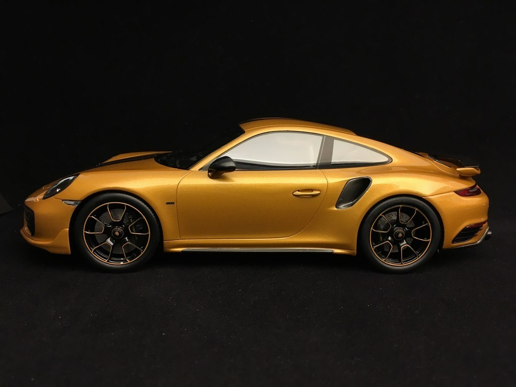 Porsche 911 Turbo S Exclusive Series 991 2017 Yellow Gold 1 18 Spark Wap0219040h Selection Rs