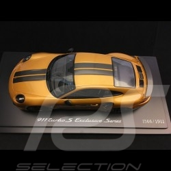 Porsche 911 Turbo S Exclusive Series 991 2017 Gelbgold 1/18 Spark WAP0219040h