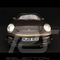 Porsche 911 Turbo 997 2010 brown Macadamia 1/18 Norev 187622