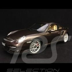 Porsche 911 Turbo 997 2010 braun Macadamia 1/18 Norev 187622