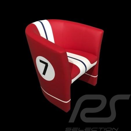 Tub chair Racing Inside n° 7 red / white / black 512FLM71