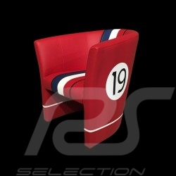 Fauteuil cabriolet Tub chair Tubstuhl Racing Inside n° 19 rouge / blanc / bleu / noir GTOLM62 chair Cabrio Stuhl