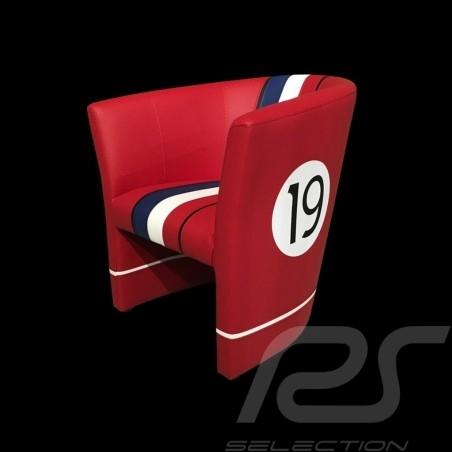 Tub chair Racing Inside n° 19 red / white / blue / black GTOLM62