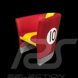 Cabrio Stuhl Racing Inside n° 10 rot / gelb / grau 512MLM71