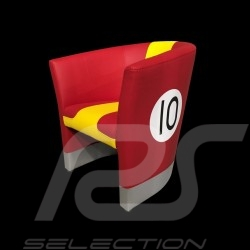 Cabriolet chair Racing Inside n° 10 red / yellow / gray 512MLM71