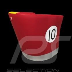 Tub chair Racing Inside n° 10 red / yellow / gray 512MLM71