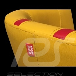 Fauteuil cabriolet Tub chair Tubstuhl Racing Inside n° 15 jaune / rouge / gris 512MLM71 chair Cabrio Stuhl