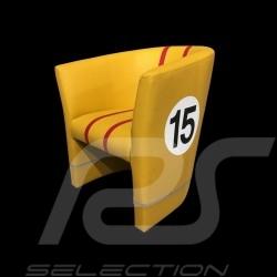 Cabrio Stuhl Racing Inside n° 15 gelb / rot / grau 512MLM71
