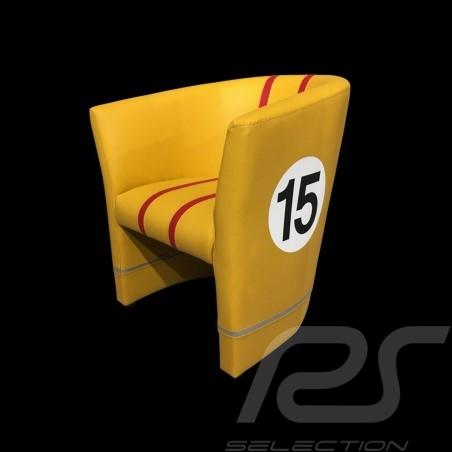 Fauteuil cabriolet Tub chair Tubstuhl Racing Inside n° 15 jaune / rouge / gris 512MLM71 chair Cabrio Stuhl