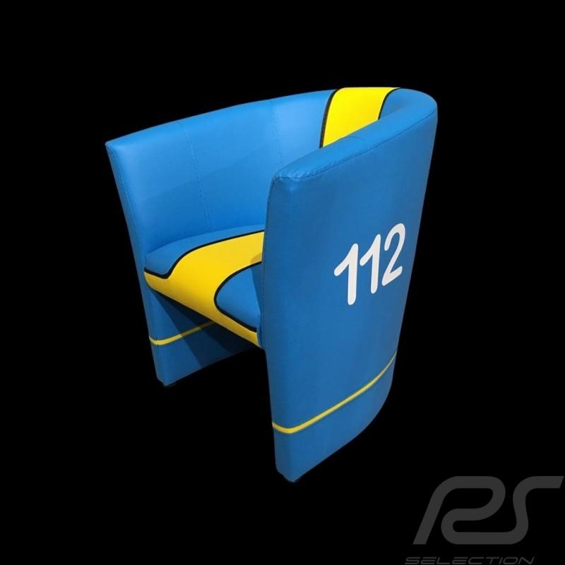 Cabrio Stuhl Racing Inside n° 112 blau / gelb / schwarz GTOTF64
