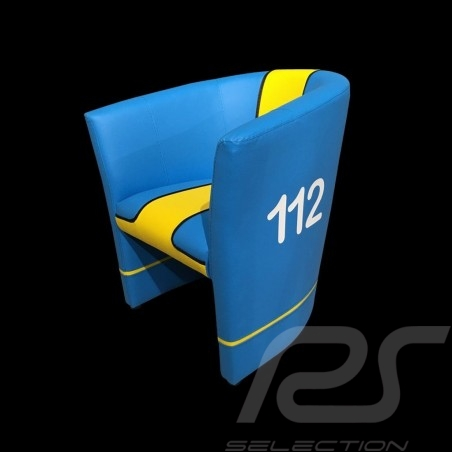 Cabriolet chair Racing Inside n° 112 blue / yellow / black GTOTF64