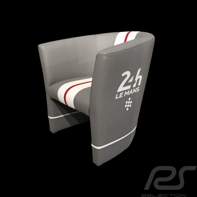 Fauteuil cabriolet Tub chair Tubstuhl Racing Inside 24H Le Mans gris / blanc /rouge