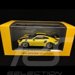 Porsche 911 GT2 RS type 991 Weissach Package jaune / noir 1/43 Spark WAP0201520J yellow / black gelb / schwarz