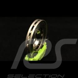 Schlüsselanhänger Porsche Bremsscheibe acidgrün