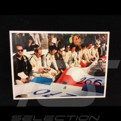 Postcard Targa Florio 1969 : Ferry Porsche talking to the race drivers 10x15 cm