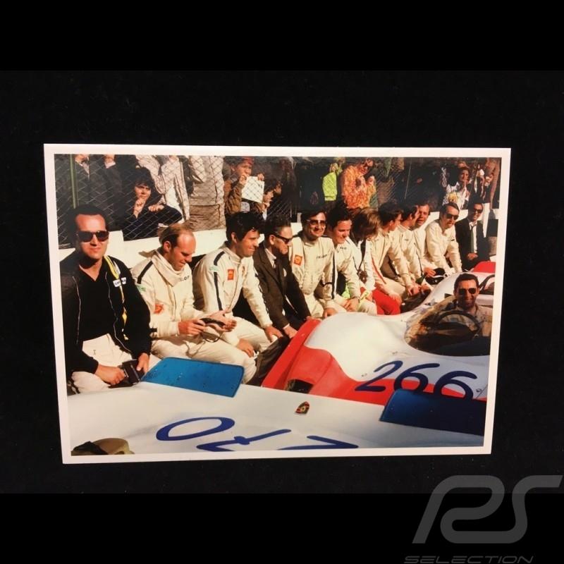 Postcard Targa Florio 1969 : Ferry Porsche talking to the race drivers 10x15 cm