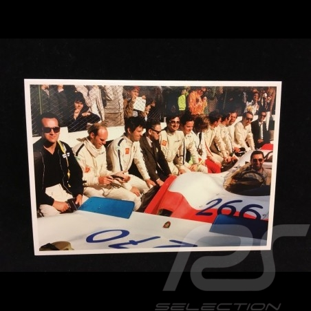 Carte postale Targa Florio 1969 : Ferry Porsche avec les pilotes 10x15 cm