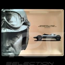 Plaque métal Metal plate Blechschild Porsche 718 F2 Wolfgang Graf Berghe von Trips 38 x 29 cm Porsche Design MAP07009108