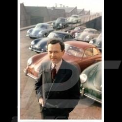 Carte postale Postcard Postkarte Porsche Ferry dans la cour de l'usine 2 1954 10x15 cm