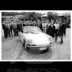 Postcard Porsche Ferry in front of the 911 2.0 1963 10x15 cm