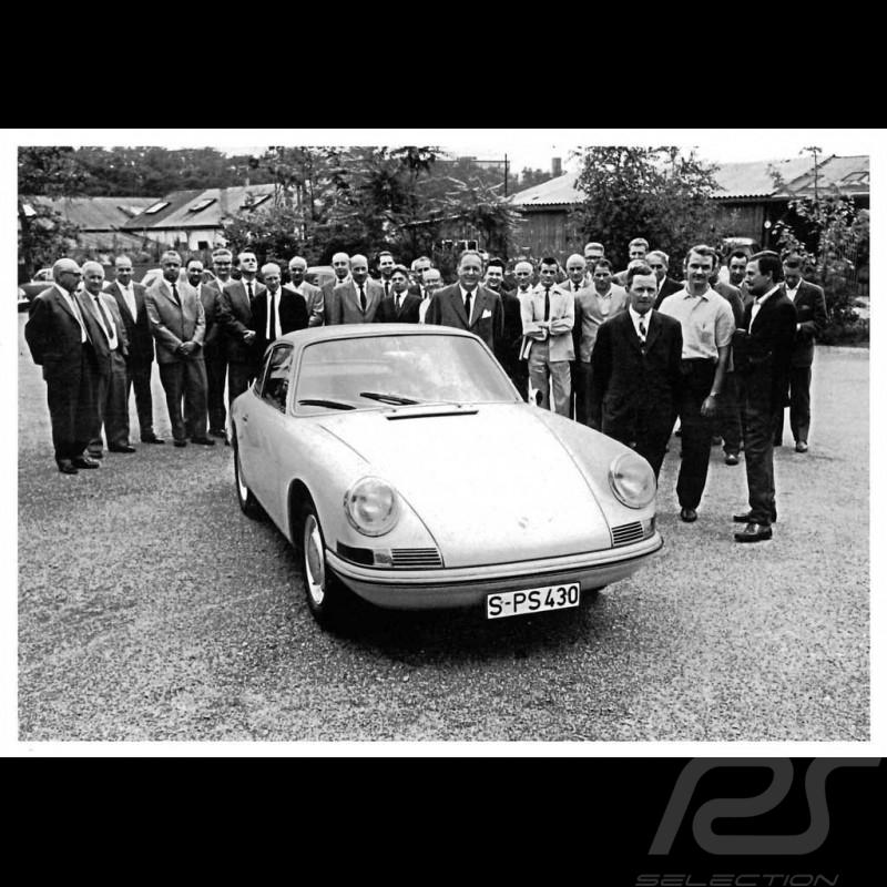 Carte postale Postcard Postkarte Porsche Ferry devant la 911 2.0 1963 10x15 cm