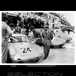 Postcard Porsche Ferry at le Mans 24h 1956 10x15 cm
