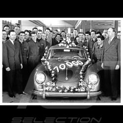 Carte postale Postcard Postkarte Porsche 25ème Anniversaire et 10 000ème Porsche produite 16 mars 1956 10x15 cm