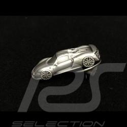 Porsche Pin broche badge key 918 spyder couleur argent silver Silber
