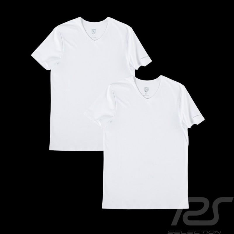 T-shirt Porsche Essential Collection basique basic blanc white weiß - set de 2 Porsche Design WAP820 - homme men Herren