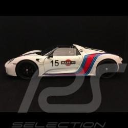 Porsche 918 Spyder Weissach 2015 Martini n° 15 blanc white weiß 1/18 Autoart 77927