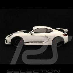 Porsche Cayman GT4 2016 white with display case 1/18 Spark WAX02100025