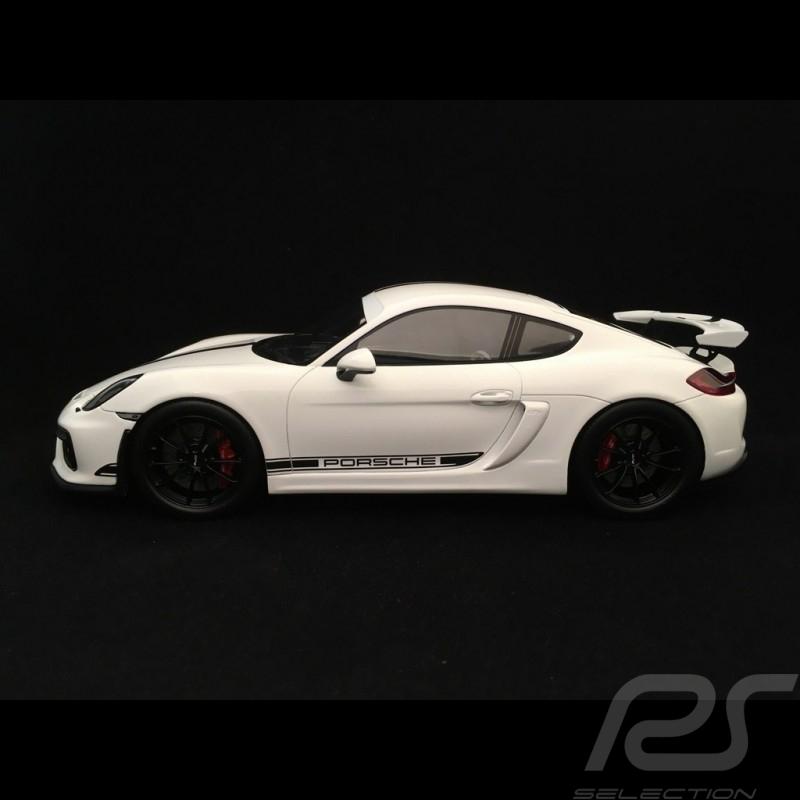 Porsche Cayman GT4 2016 blanc whitre weiß avec vitrine 1/18  Spark WAX02100025