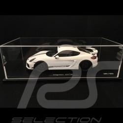 Porsche Cayman GT4 2016 weiß mit Vitrine 1/18  Spark WAX02100025