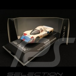 Porsche 907 n° 222 Targa Florio 1968 finish line Hans Herrmann signature 1/43 Schuco 450362300