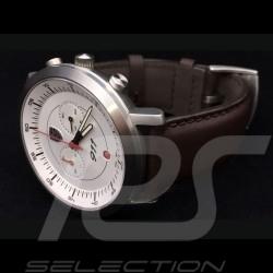Uhr Chrono Porsche 911 Classic weiß / braune Armband Porsche Design WAP0700070F