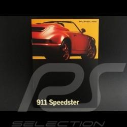 Brochure Porsche 911 Speedster décembre december Dezember 1992 anglais english Englisch